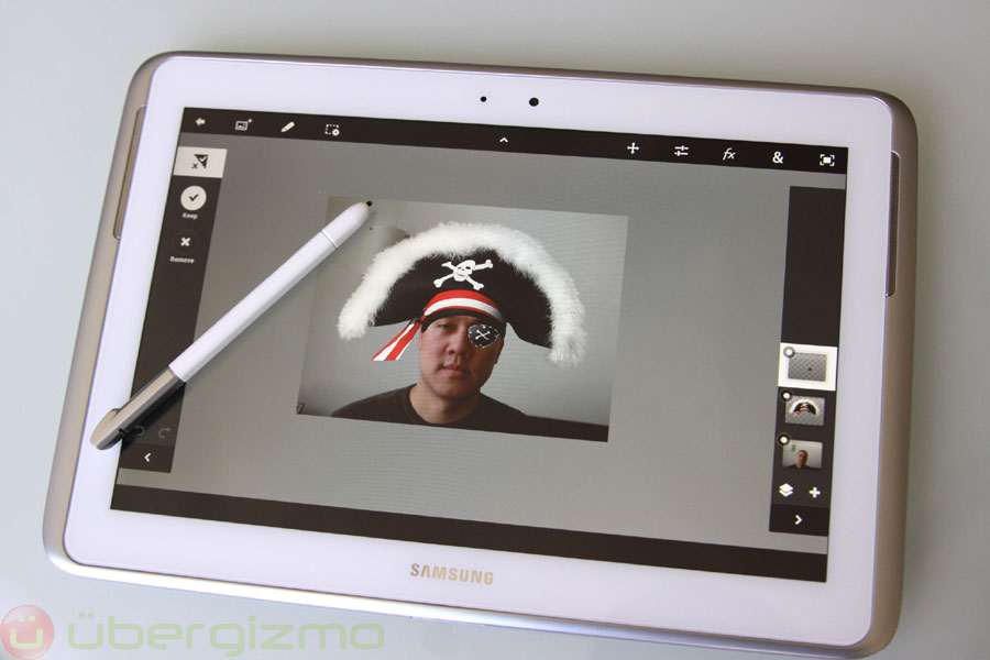Photoshop Samsung Galaxy Note'da