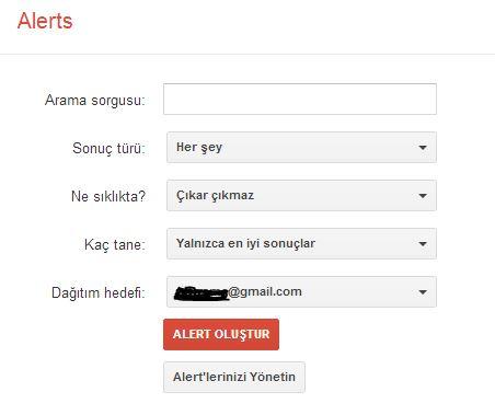 Google Alerts İle Her Şeyden Haberdar Olun