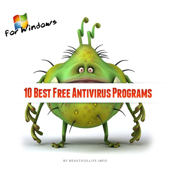 Windows İçin Bedava En İyi 10 Antivirüs Programı