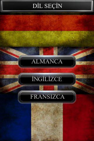 İngilizce-Almanca-Fransızca Kelime Test Paketi Uygulaması