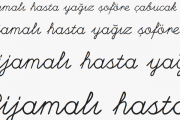 Etkileşimli Tahtalara El Yazısı Fontu Ekleme